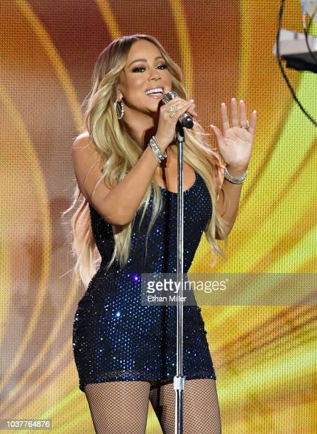 Singer Mariah Carey performs during the 2018 iHeartRadio Music Festival at TMobile Arena on September 21 2018 in Las Vegas Nevada