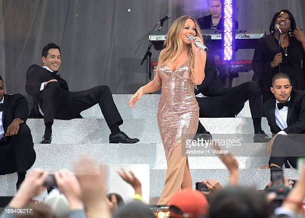 """Singer Mariah Carey performs on ABC's """"Good Morning America"""" at Rumsey Playfield on May 24, 2013 in New York City."""