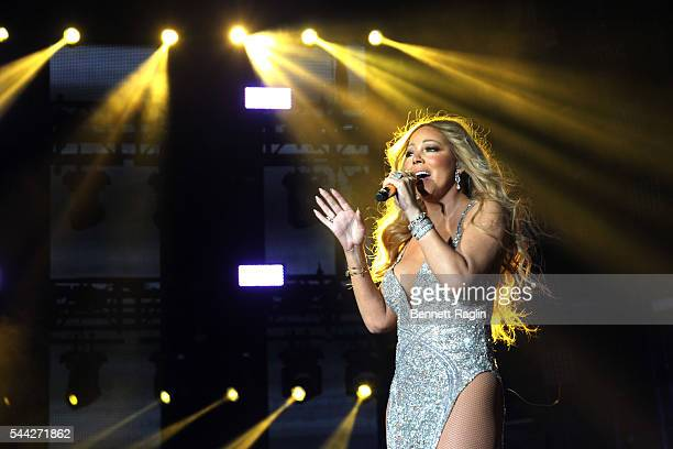 Singer Mariah Carey performs on stage during the 2016 ESSENCE Festival presented by Coca Cola at the Louisiana Superdome on July 2 2016 in New...