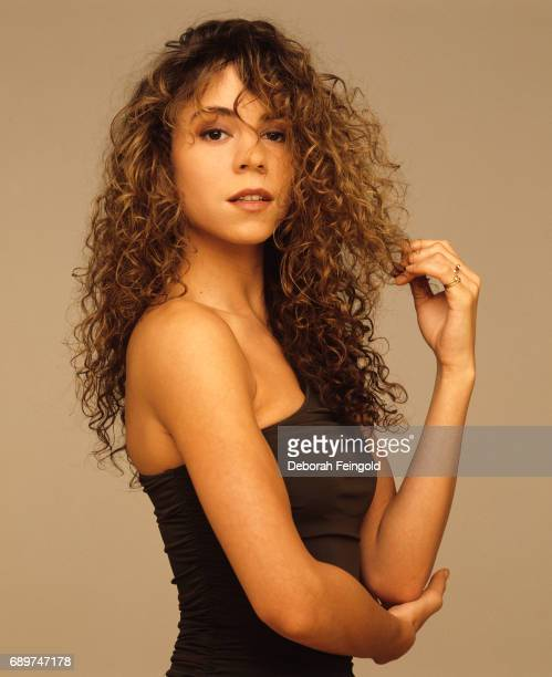 Singer Mariah Carey poses for a portrait in 1990 in New York City New York