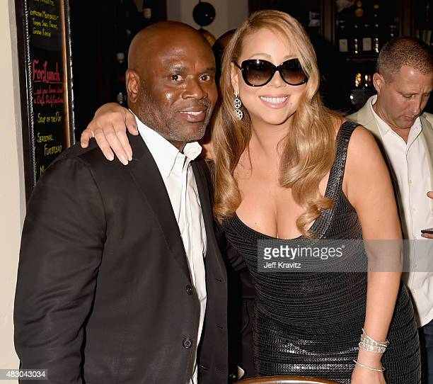 Singer Mariah Carey with Chairman and CEO Epic Records LA Reid is honored with Star on The Hollywood Walk of Fame on August 5 2015 in Hollywood...