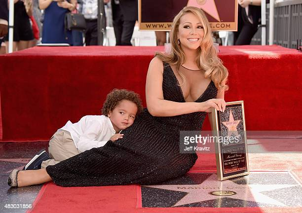 Singer Mariah Carey with Moroccan Cannon is honored with Star on The Hollywood Walk of Fame on August 5 2015 in Hollywood California