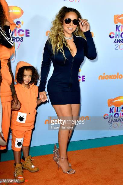 Singer Mariah Carey with Moroccan Scott Cannon at Nickelodeon's 2017 Kids' Choice Awards at USC Galen Center on March 11 2017 in Los Angeles...