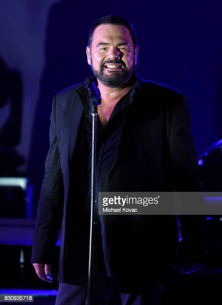 Singer Marian Gold of the band Alphaville performs at The Starlight Bowl on August 12 2017 in Burbank California