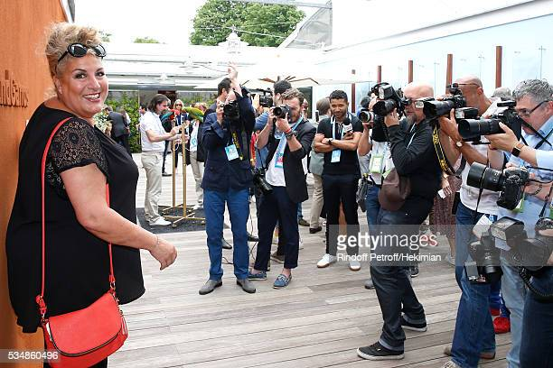 Singer Marianne James attends Day Seven of the 2016 French Tennis Open at Roland Garros on May 28 2016 in Paris France