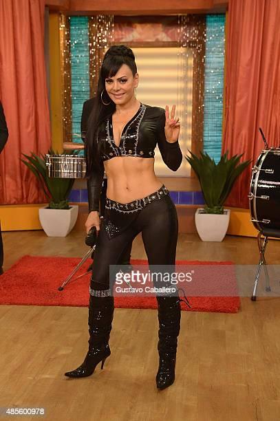 Singer Maribel Guardia is on the set of Univisions Despierta America at Univision Studios on August 28 2015 in Miami Florida