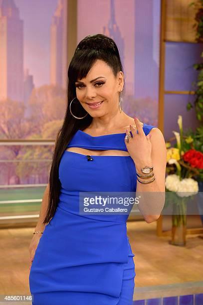 Singer Maribel Guardia is on the set of Univisions 'Despierta America' at Univision Studios on August 28 2015 in Miami Florida