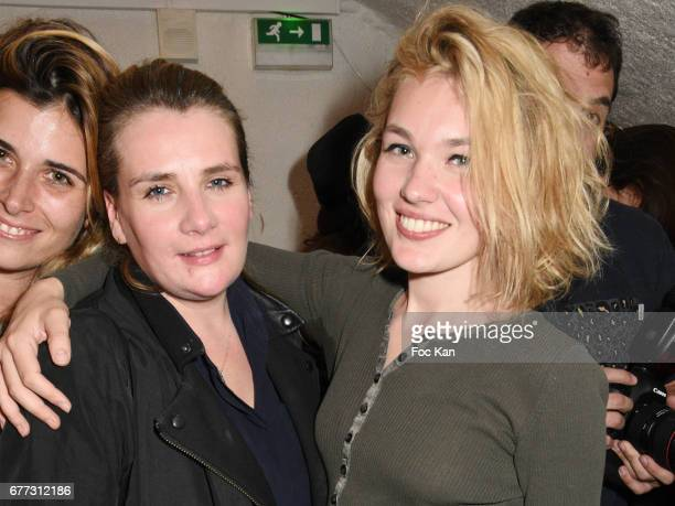 Singer Marie Amelie Seigner and model Alice Aufray attend 'Attachiante' Chanez Concert and Birthday Party at Sentier des Halles Club on May 2 2017 in...