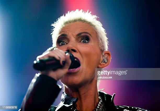 Singer Marie Fredriksson of the Swedish band Roxette performs live during a concert at the Zitadelle Spandau on June 11, 2011 in Berlin, Germany.