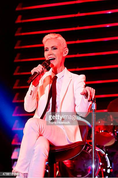 Singer Marie Fredriksson of the Swedish band Roxette performs live during a concert at the O2 World on June 27 2015 in Berlin Germany