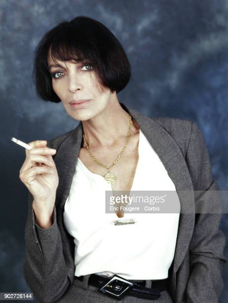 Singer Marie Laforet poses during a portrait session in Paris France on