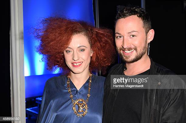 Singer Marie Marie and Marcel Ostertag attend the Marcel Ostertag Charity Fashion Show at Sofitel Munich Bayerpost on November 13 2014 in Munich...