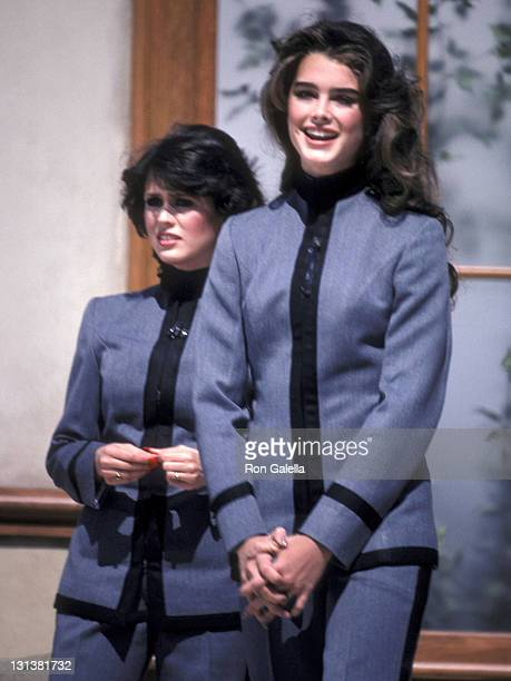 Singer Marie Osmond and actress Brooke Shields attend the Taping of the NBC Television Special 'Bob Hope's AllStar Comedy Birthday Party from West...