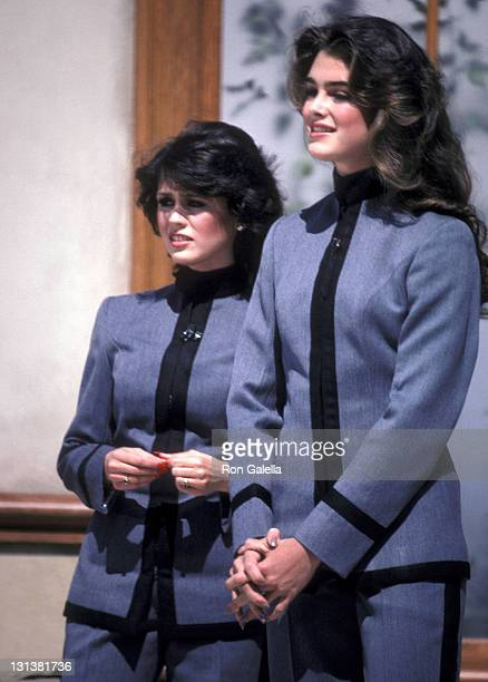 Singer Marie Osmond and actress Brooke Shields attend the Taping of the NBC Television Special Bob Hope's AllStar Comedy Birthday Party from West...
