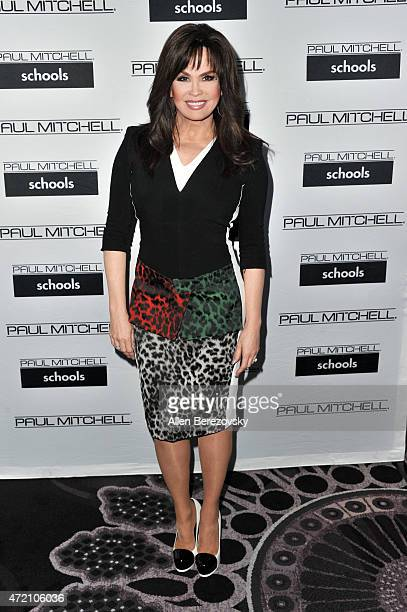 Singer Marie Osmond attends Paul Mitchell Schools' 12th Annual FUNraising Gala at The Beverly Hilton Hotel on May 3 2015 in Beverly Hills California
