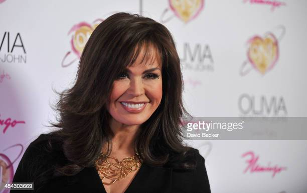 Singer Marie Osmond attends the grand opening of Olivia NewtonJohn's residency show 'Summer Nights' at Flamingo Las Vegas on April 11 2014 in Las...