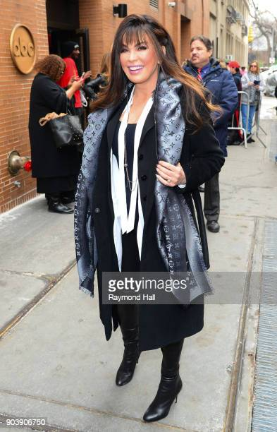Singer Marie Osmond is seen out the 'View' on January 11 2018 in New York City