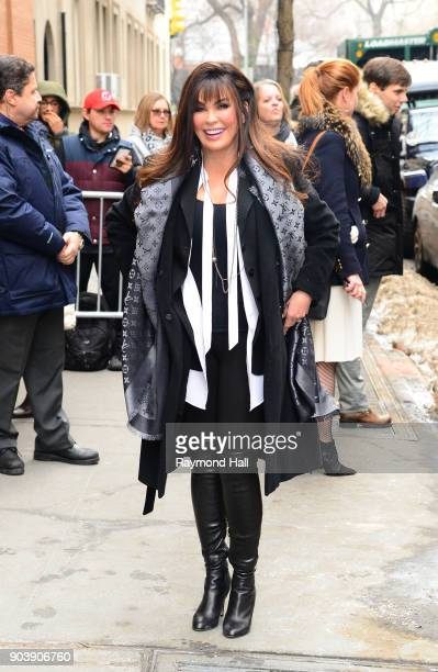 Singer Marie Osmond is seen out the View on January 11 2018 in New York City
