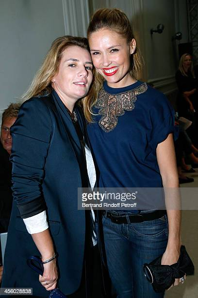 Singer MarieAmelie Seigner and actress Lilou Fogli attend the Alexis Mabille show as part of the Paris Fashion Week Womenswear Spring/Summer 2015 on...