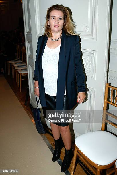 Singer MarieAmelie Seigner attends the Alexis Mabille show as part of the Paris Fashion Week Womenswear Spring/Summer 2015 on September 24 2014 in...