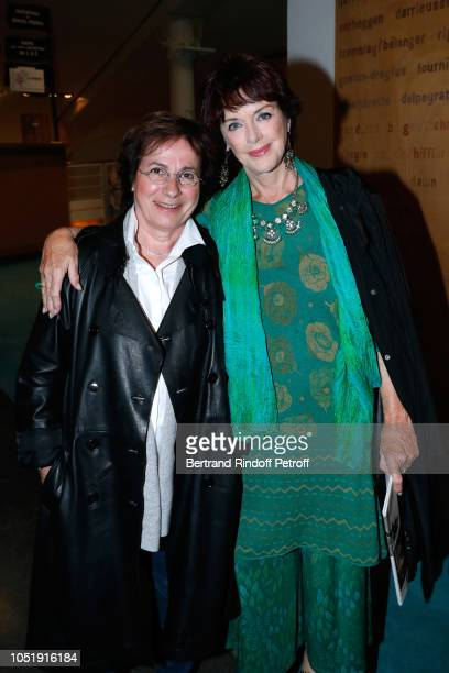 Singer MariePaule Belle and actress Anny Duperey attend Le Banquet Theater play at Theatre du RondPoint on October 11 2018 in Paris France