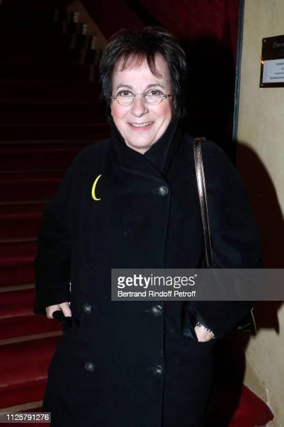 Singer MariePaule Belle attends the Michele Bernier One Woman Show Vive Demain at Theatre des Varietes on January 28 2019 in Paris France