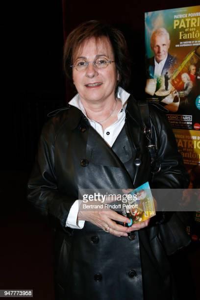 Singer MariePaule Belle attends the Patrick et ses Fantomes Theater Play at Casino de Paris on April 17 2018 in Paris France