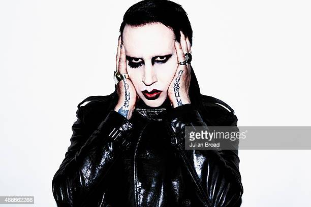 Singer Marilyn Manson is photographed for the Observer on December 5, 2014 in London, England.