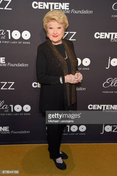 Singer Marilyn Maye attends the Jazz at Lincoln Center 2017 Gala Ella at 100 Forever the First Lady of Song on April 26 2017 in New York City