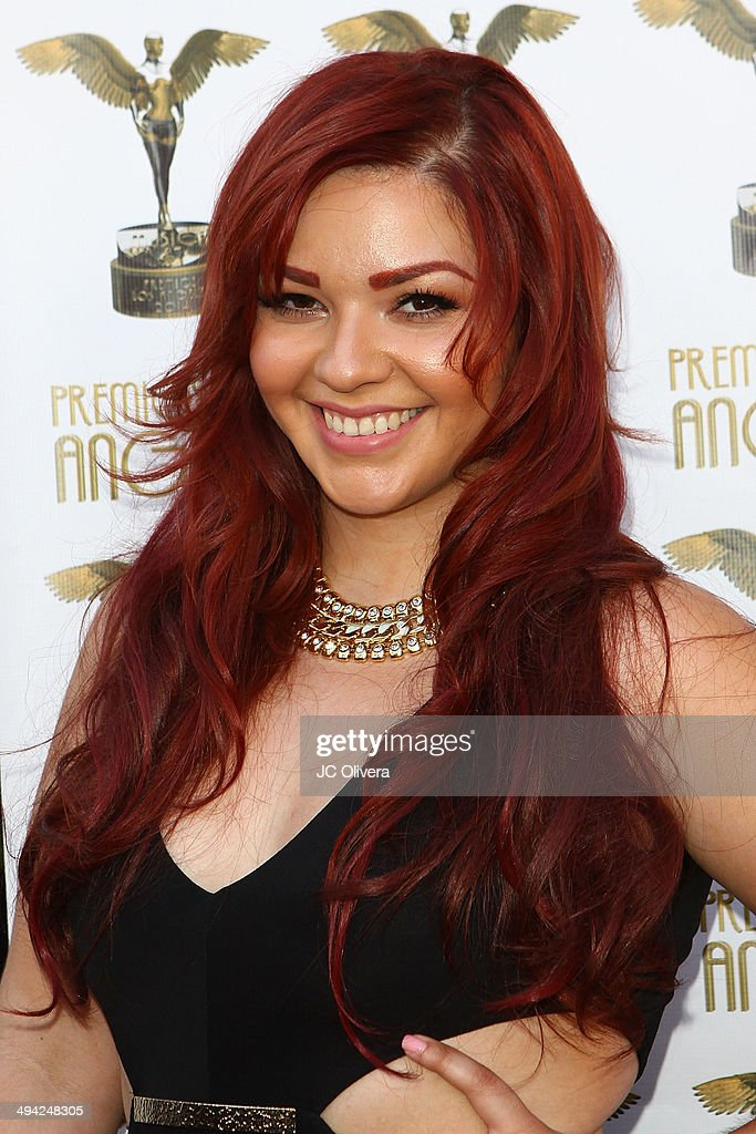 Singer Marilyn Odessa arrives at Premios Los Angeles 2014 at The Theatre at Ace Hotel Downtown LA on May 28, 2014 in Los Angeles, California.