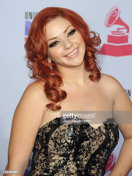 Singer Marilyn Odessa arrives at the 13th annual Latin GRAMMY Awards held at the Mandalay Bay Events Center on November 15 2012 in Las Vegas Nevada