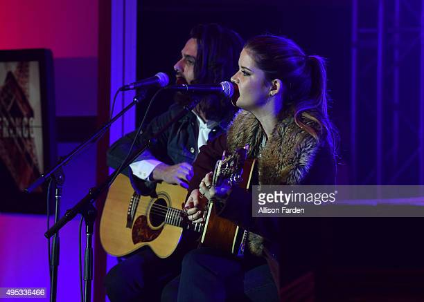 Singer Marin Morris performs at Off The Record Fashion Show held at a Private Residence on November 1 2015 in Nashville Tennessee