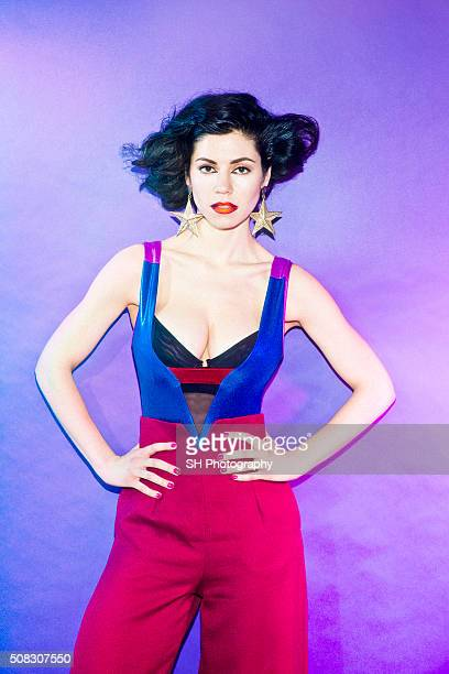 Singer Marina and The Diamonds is photographed for Notion magazine on July 21 2014 in London England