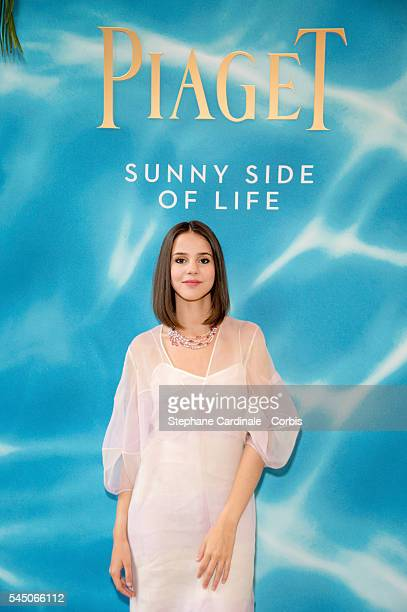 Singer Marina Kaye attends the Sunny Side of Life By Piaget Launch Partyshow as part of Paris Fashion Week on July 4 2016 in Paris France