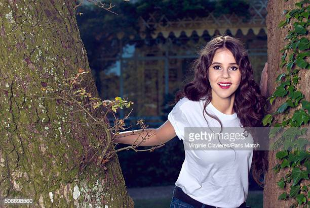 Singer Marina Kaye is photographed for Paris Match on September 29, 2015 in St Germain-en-Laye, France.