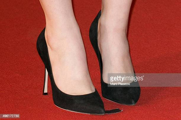 Singer Marina Kaye shoe detail attends the 17th NRJ Music Awards ceremony at Palais des Festivals on November 7 2015 in Cannes France