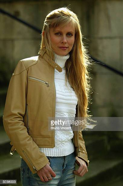 Singer Marina Lazlo poses for photographers outside St John Smith Square on April 7 2004 in London The russian born singer of jazz blues and folk...