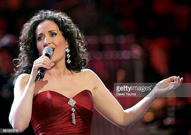 Singer Marina Prior performs at the 2005 Carols by Candlelight on December 24 2005 in Melbourne Australia