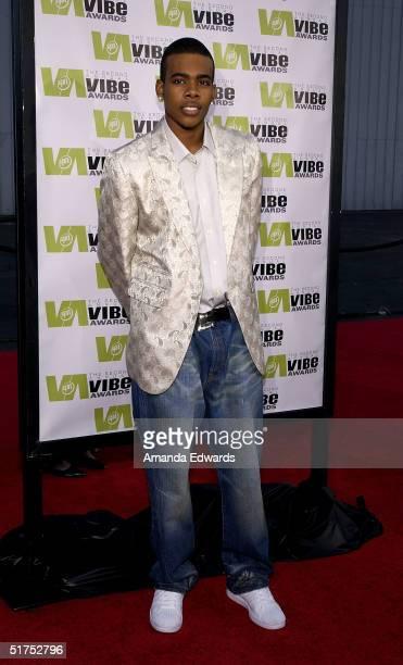 Singer Mario attends the 2004 Vibe Awards on UPN at Barker Hangar November 15 2004 in Santa Monica California