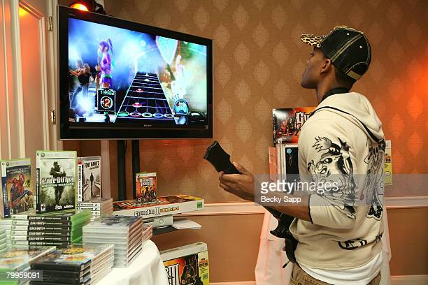 Singer Mario attends The Belvedere Luxury Lounge in honor of the 80th Academy Awards featuring Activision's Guitar Hero III Legends of Rock held at...