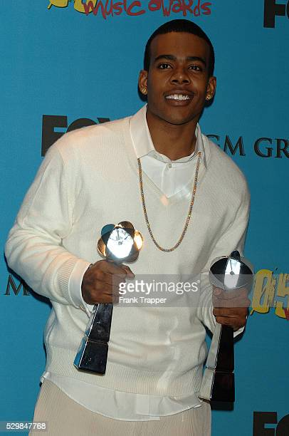RB singer Mario in the press room with his awards for RB/HipHop Song of the Year and RB/HipHop Airplay Song of the Year Let Me Love You held at MGM...