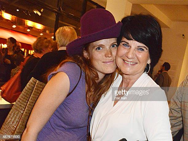 Singer Marion Corrales and her mother Christine Corrales attend the 'Skin Fais Moi Ma Peau' Against Women Breast Cancer Auction Exhibition Preview At...