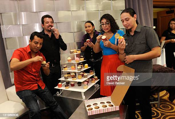 Singer Marisol Hernandez and band members of La Santa Cecilia attend the 12th Annual Latin GRAMMY Awards Gift Lounge Day 2 held at the Mandalay Bay...