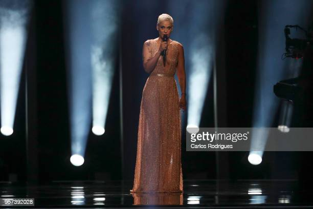 Singer Mariza during the opening ceremony for the Grand Final Dress Rehearsal of Eurovision Song Contest 2018 in Altice Arena on May 11 2018 in...