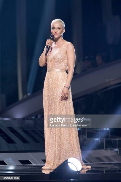 Singer Mariza performs during the second Grand Final Dress Rehearsal of Eurovision Song Contest 2018 in Altice Arena on May 11 2018 in Lisbon Portugal