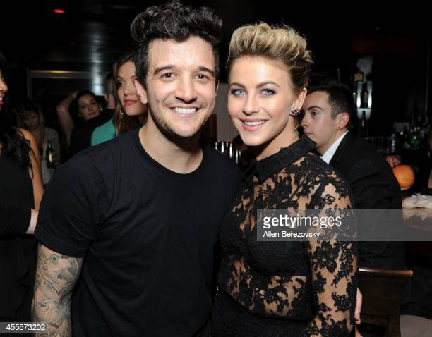 Singer Mark Ballas and dancer Julianne Hough attend Mark Ballas Debuts EP 'Kicking Clouds' at Crustacean on September 16 2014 in Beverly Hills...