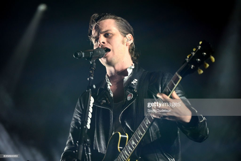 Singer Mark Foster of Foster the People performs onstage during the Alt 98.7 Summer Camp concert at Queen Mary Events Park on August 19, 2017 in Long Beach, California.