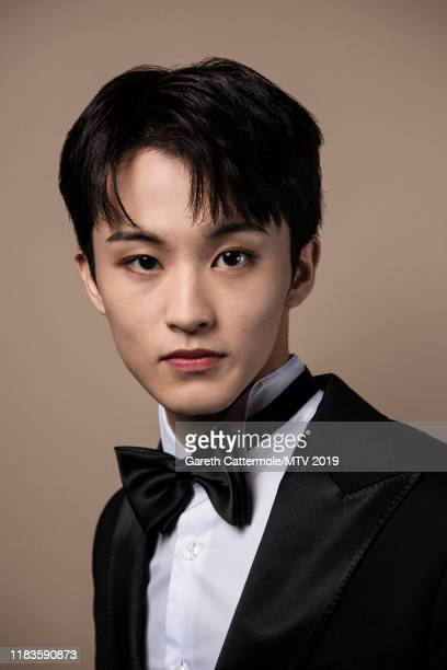 Singer Mark Lee of boy band NCT 127 pose for a portrait at the MTV EMAs 2019 studio at FIBES Conference and Exhibition Centre on November 3 2019 in...