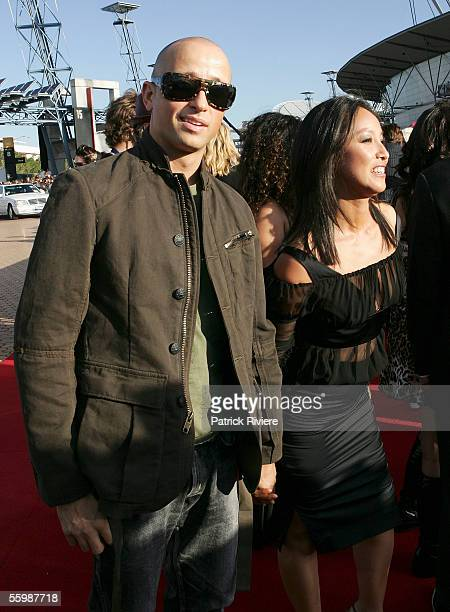Singer Mark Lisotte arrives at the 19th Annual ARIA Awards at the Sydney SuperDome on October 23 2005 in Sydney Australia The ARIA Awards recognise...