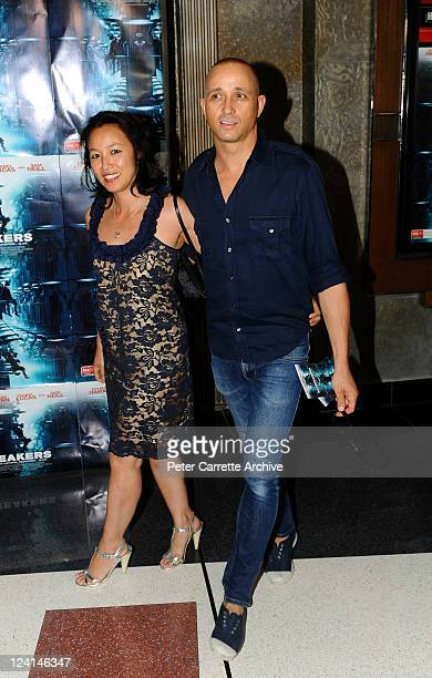 Singer Mark Lizotte and his wife Jep Lizotte arrive for the Australian premiere of the film 'Daybreakers' at Hoyts Cinema at The Entertainment...